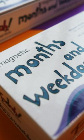 Tadah Learning that Sticks Magnetic Months and Weekdays